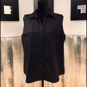 Black Izod Golf Sleeveless Top Sz XL
